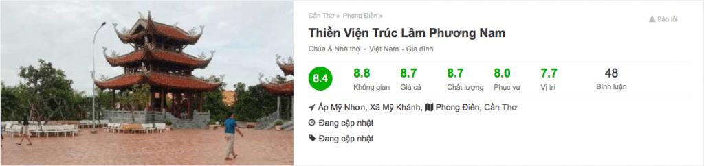 Đánh giá Thiền Viện Trúc Lâm Phương Nam ở Cần Thơ trên Foody.vn